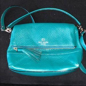 Kate Spade teal shoulder purse